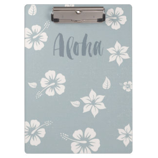Aloha Hawaii ocean blue Clipboard
