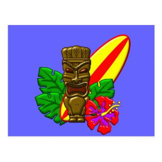 Aloha Hawaii Surfer Postcard