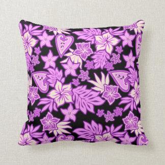 Aloha Heart Hawaiian Hibiscus Tropical Pillows