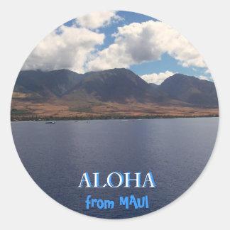 Aloha Maui Classic Round Sticker