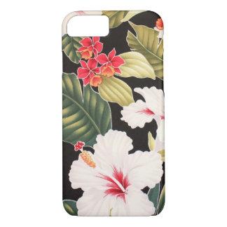 Aloha Shirt Hibiscus Black iPhone 7 Case