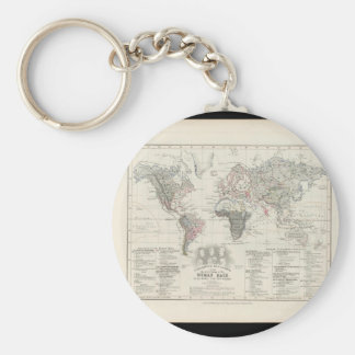 Along in years World Map 14 Key Ring