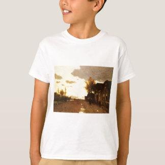 Along the Canal by Johan Hendrik Weissenbruch T-Shirt