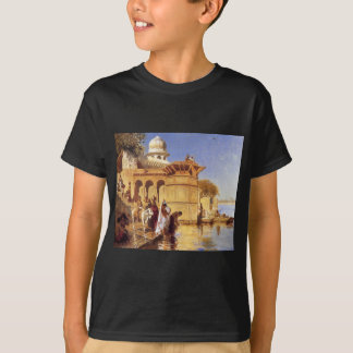 Along the Ghats, Mathura by Edwin Lord Weeks T-Shirt