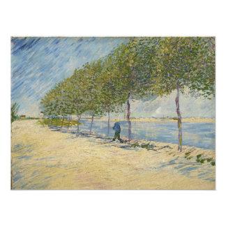 Along the Seine by Vincent Van Gogh Photo