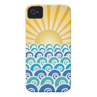 Along the Waves Blue iPhone 4 Case