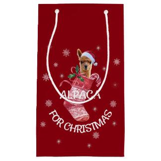 Alpaca Christmas Gift Bag