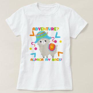 Alpaca Humour - Adventure Alpaca My Bags T-Shirt
