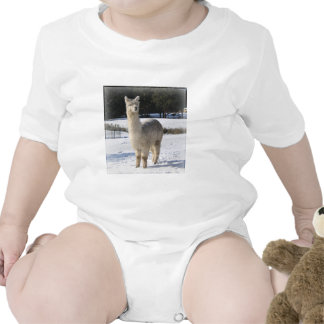 Alpaca In the Snow Baby Creeper