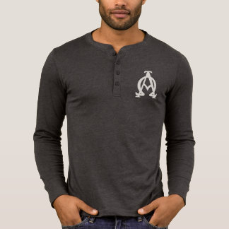 Alpha and Omega Canvas Henley Long Sleeve Shirt