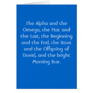 'Alpha and Omega' Card