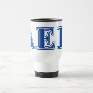 Alpha Epsilon Pi Blue Letters Travel Mug