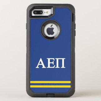Alpha Epsilon Pi   Sport Stripe OtterBox Defender iPhone 8 Plus/7 Plus Case