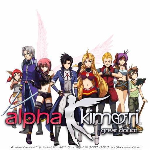 Alpha Kimori Characters 2D Model Toy Cut Outs