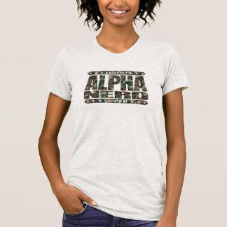 ALPHA NERD - Army of Intellectual Warriors, Camo T-shirt
