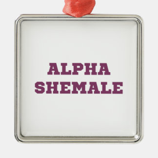 Alpha Shemale Christmas Ornament