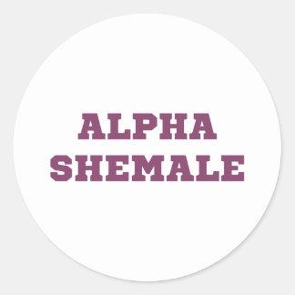 Alpha Shemale Round Sticker