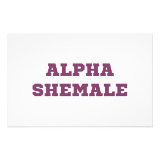 Alpha Shemale Stationery Design