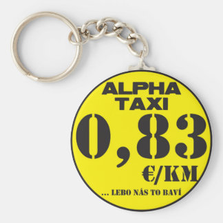 alpha taxi basic round button key ring