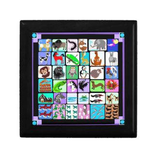 Alphabet animals gift box