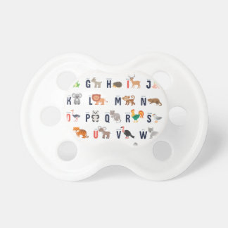 Alphabet Animals - super cute! Baby Pacifiers