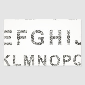 Alphabet business rectangular sticker