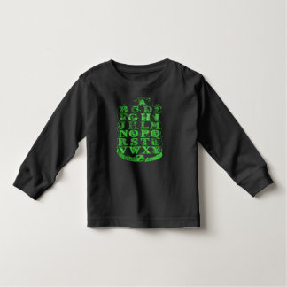 Alphabet green and black toddler boys shirt