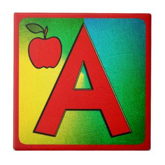 Small Ceramic Alphabet Tiles