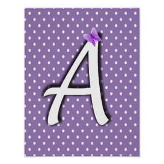 Alphabet Nursery Baby Wall Decor Lavender Purple