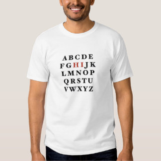 Alphabet T Shirts