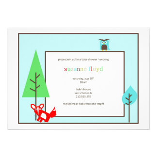 Alphabet Zoo Baby Shower Personalized Invites