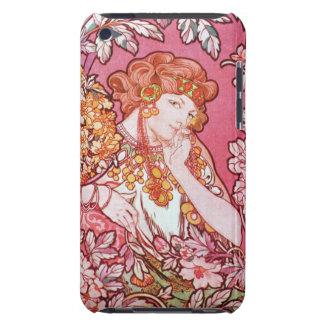 Alphonse Mucha Art Nouveau Woman Among the Flowers iPod Touch Cases