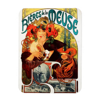 Alphonse Mucha Beer of the Muse Magnet