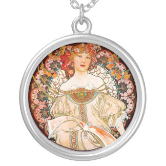 Alphonse Mucha - F. Champenois Silver Plated Necklace