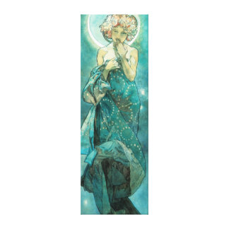 Alphonse Mucha Moonlight Clair De Lune Art Nouveau Canvas Print