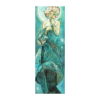Alphonse Mucha Moonlight Clair De Lune Art Nouveau Gallery Wrapped Canvas