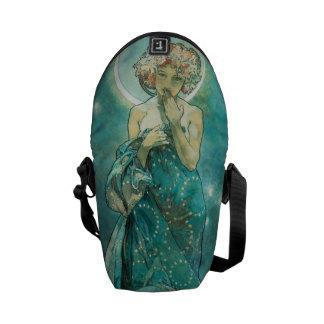 Alphonse Mucha Moonlight Clair De Lune Art Nouveau Messenger Bag