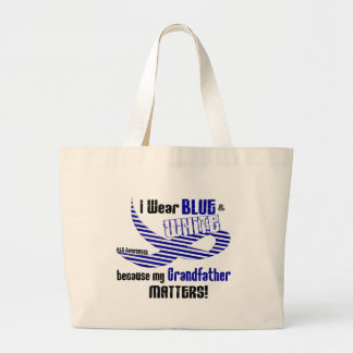ALS I Wear Blue And White For My Grandfather 33 Jumbo Tote Bag