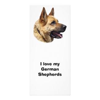 Alsatian German shepherd dog portrait Rack Cards