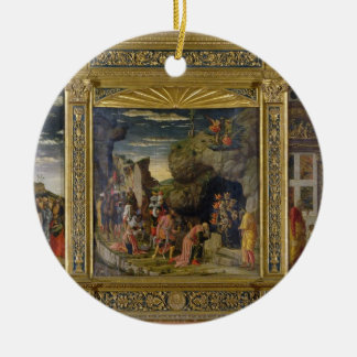 Altarpiece depicting the Ascension, the Adoration Christmas Ornament