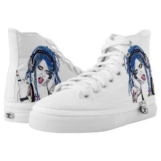 Alternative Dreadlock Girl Hi Tops Printed Shoes