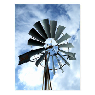 Alternative Energy - Pinwheel Windmill Power Postcard