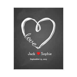 Alternative wedding guest book infinity heart