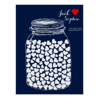 Alternative wedding guest book mason chalk 100