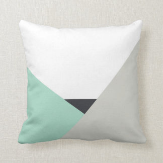Althea Mint & Gray Abstract Color Block Pillow Cushions