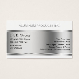 Aluminum Construction Business Cards