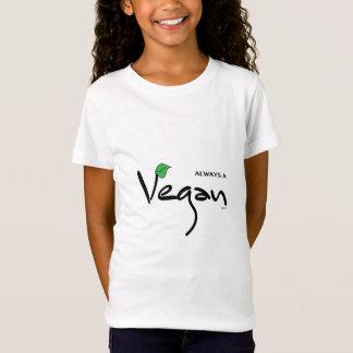 Always A Vegan with Green Leaf T-Shirt