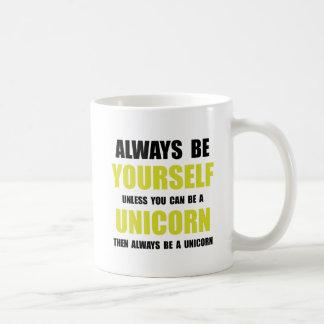 Always Be Unicorn Basic White Mug
