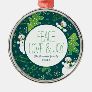 Always Christmas Fun Pattern Christmas Ornament