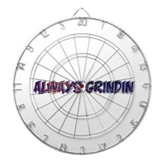 """Always Grinding"" apparels Dartboard With Darts"